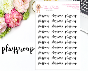 Playgroup - Script Stickers