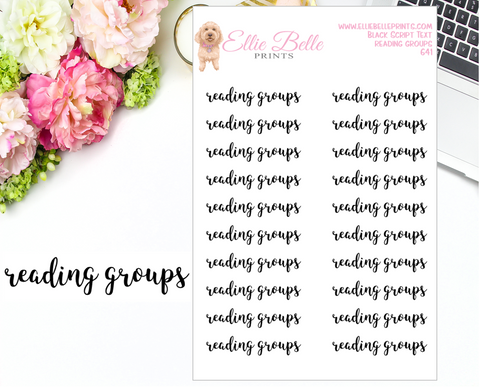 Reading Groups - Script Stickers