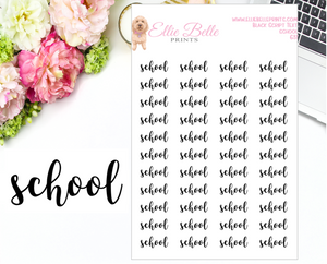 School - Script Stickers