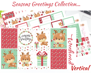 Seasons Greetings - Vertical Weekly Planner Kit