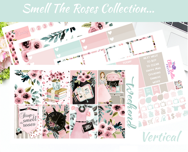 Smell The Roses - Vertical Weekly Planner Kit [401]
