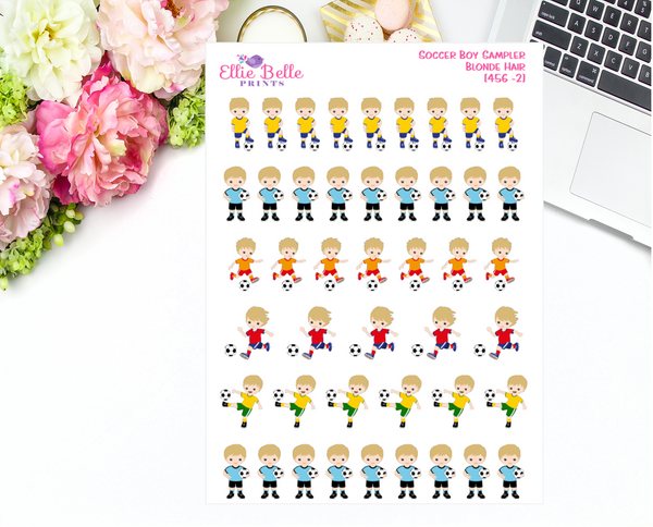 Soccer Boy Sampler Stickers