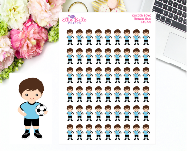 Soccer Boy Stickers