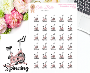 Spinning Class Icons with Text
