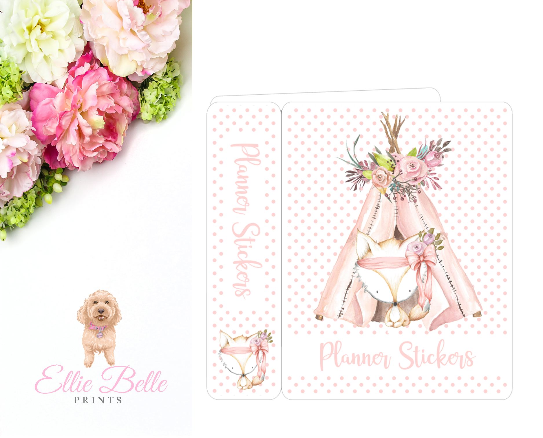 JUMBO Sticker Album (Sticker Kits) - Boho Fox
