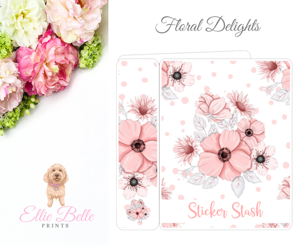 JUMBO Sticker Album (Sticker Kits) - Floral Delight