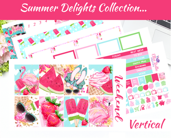 Summer Delights Weekly Planner Kit  Planner Stickers