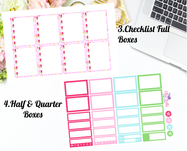 Summer Delights Collection - Vertical Weekly Planner Kit