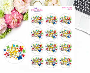 Super Reader Teacher Stickers