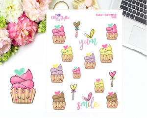 Sweet Cupcake Stickers