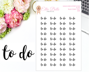 To Do - Script Stickers