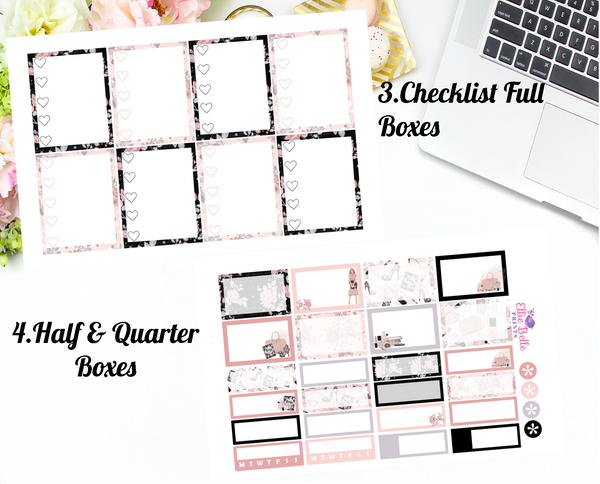 HUSTLE WITH ELEGANCE COLLECTION  - Vertical Weekly Planner Kit [371]