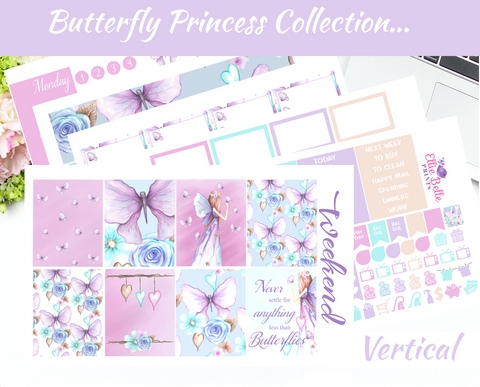 Butterfly Princess - Vertical Weekly Planner Kit