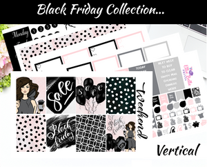 Black Friday - Vertical Weekly Planner Kit