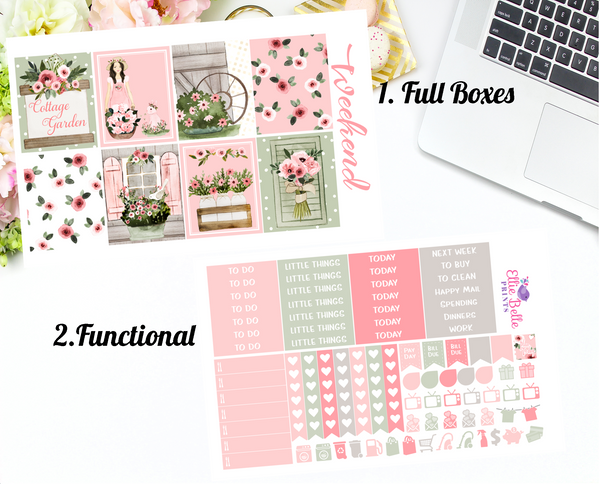 Cottage Garden - Vertical Weekly Planner Kit