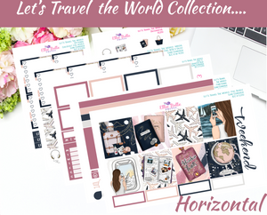 Let's Travel The World - Horizontal Weekly Kit