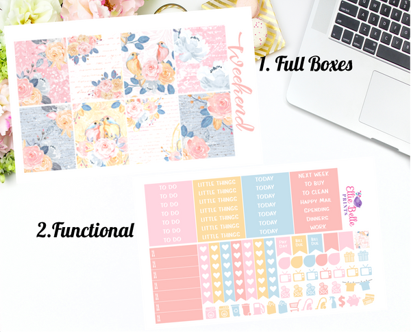 Love Birds - Vertical Weekly Planner Kit