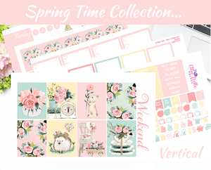 Spring Time - Vertical Weekly Planner Kit