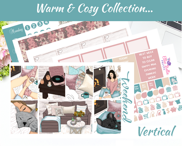 Warm & Cosy - Vertical Weekly Planner Kit