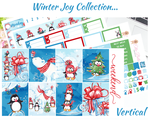 Winter Joy - Vertical Weekly Planner Kit