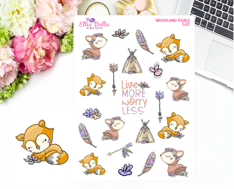 Woodland Fox Stickers