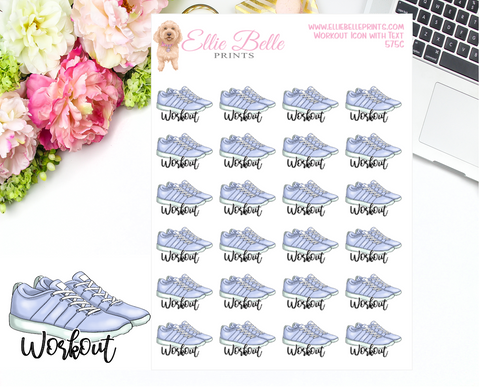 Workout Shoes Icons with Text