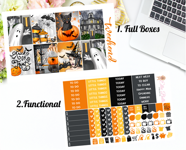 Halloween - Vertical Weekly Planner Kit