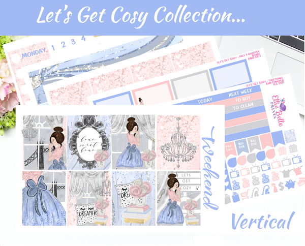 Let's Get Cosy - Vertical Weekly Planner Kit [397]