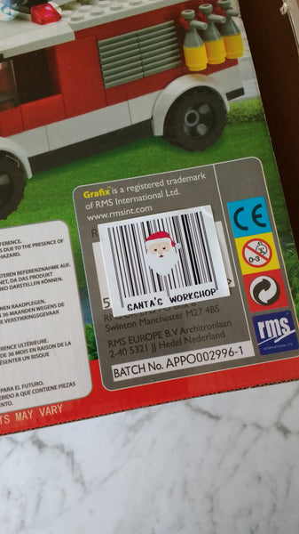 OLD PAPER - Santa's Workshop Present Barcode Stickers