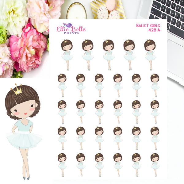 Ballet Girl Stickers