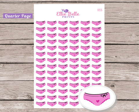 Period Tracker / Sexy Lingerie Decorative Stickers