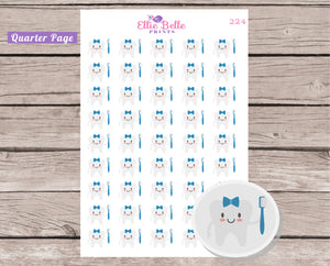 BOY Teeth Cleaning Sticker [224]