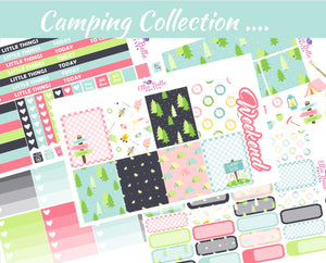 CAMPING COLLECTION - Vertical Weekly Planner Kit [262]