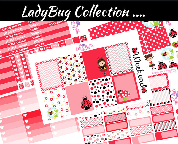 LADYBUG COLLECTION  - Vertical Weekly Planner Kit [001]