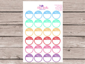 Don't Forget Circle Reminder Stickers - Spring Delights [282]