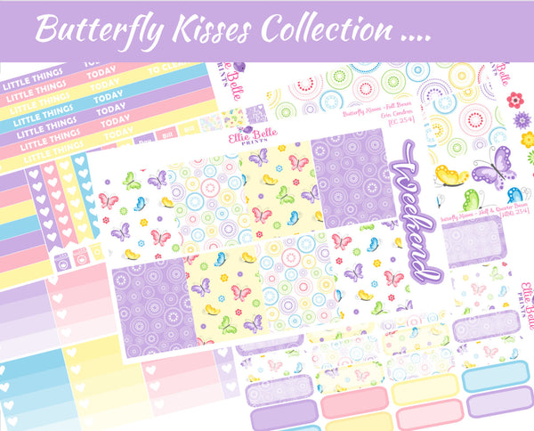 BUTTERFLY KISSES COLLECTION - Vertical Weekly Planner Kit [254]