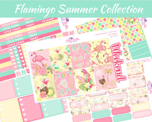 FLAMINGO SUMMER COLLECTION - Vertical Weekly Planner Kit [259]