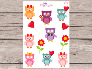 Love Owls Decorative Stickers [294]
