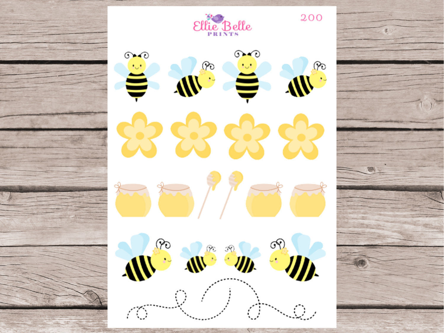Bee Decorative Stickers