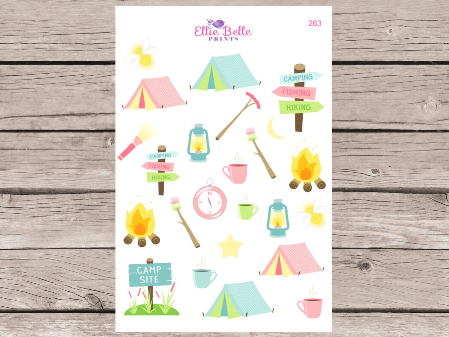 Camping Decorative Planner Stickers [263]