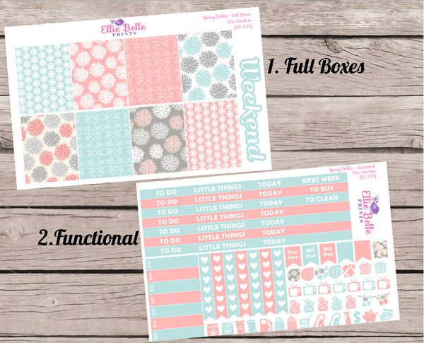 SPRING DAHLIA COLLECTION - Vertical Weekly Planner Kit [291]