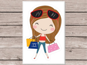 Shopping Girl Stickers - Girl Collection 1