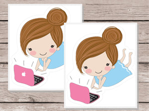 Laptop / Blogger Stickers - Girl Collection 1