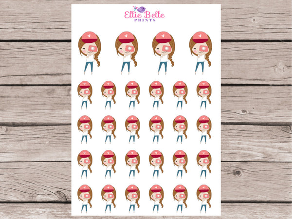 Camera Girl Stickers - Girl Collection 1