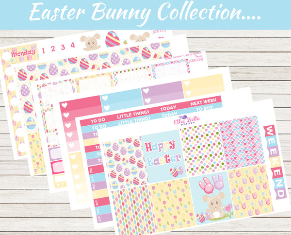 EASTER BUNNY COLLECTION - Vertical Weekly Planner Kit [129]