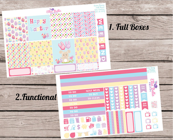 EASTER BUNNY COLLECTION - Horizontal Weekly Planner Kit [129]