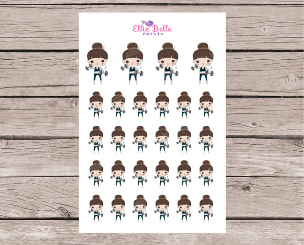 Work Out Stickers - Girl Collection 2