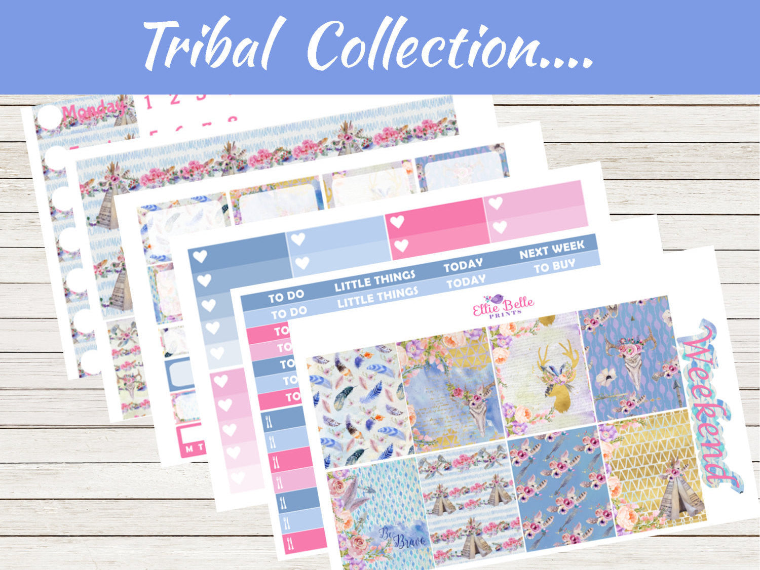 TRIBAL COLLECTION - Vertical Weekly Planner Kit [326]