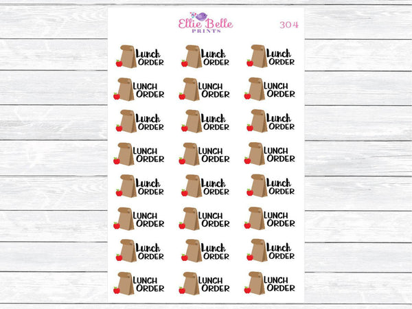 Lunch Order Decorative Stickers [355]