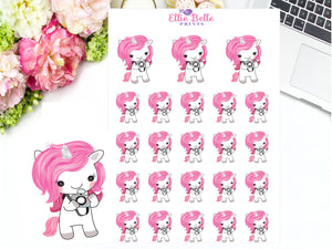 Camera Stickers - Pink Unicorn Collection